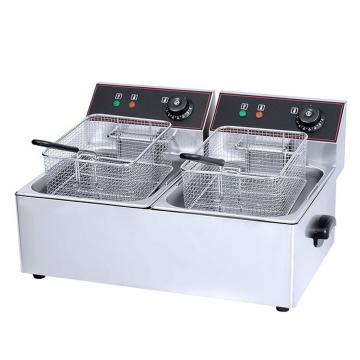 6, 12, 23liter Commercial Electric Gas Single Double Flat Deep Fryer with 110V, 220V
